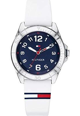 Tommy Hilfiger - Reloj de Pulsera analógico de Cuarzo para Hombre, Talla única, Azul, Blanco