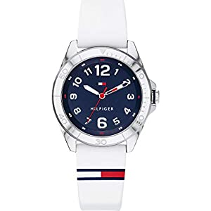 Tommy Hilfiger – Reloj de Pulsera analógico de Cuarzo para Hombre, Talla única, Azul, Blanco