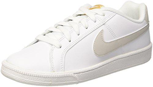 Nike Wmns Court Royale, Chaussures de Tennis Femme Blanc (White/Light Bone-Mineral Yellow 110)