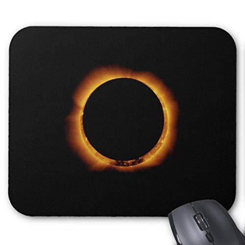 Mauspad Anti-Rutsch-Gummi Gaming Mauspad Rechteck Mauspad für Computer Laptop annular Eclipse Ring von Feuer Mauspad -