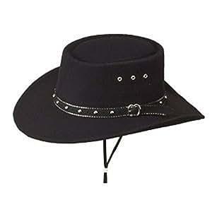 Black Faux Felt Gambler Hat - Adult Size 60 by Western Express