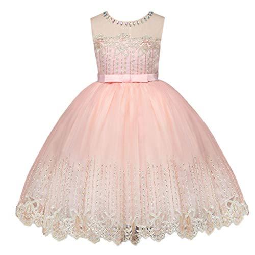 SOMESUN Baby Mädchen Aschenputtel Kleid Ärmellos Party Hochzeit Formal Prinzessin Rock Kinder Modisch Feierliche Anlässe Elegant Tanzrock Geburtstag Abendkleid