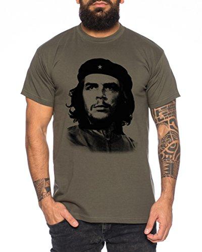 Kostüm Guevara Che - Che Herren T-Shirt Kuba Guevara Revolution Guevara, Farbe:Khaki;Größe:XXL