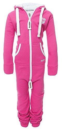 Gennadi Hoppe Hoppe Kinder Jumpsuit Overall Jogger Trainingsanzug Mädchen Anzug Jungen Onesie (12-13 Jahre/year, pink)