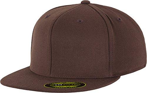 (Flexfit Erwachsene Mütze Premium 210 Fitted, braun (brown), L/XL)