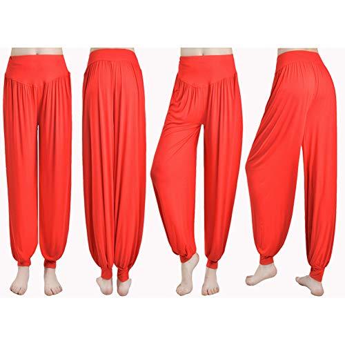 Yogahosen Herbst Und Winter Modal Harem Hosen Frauen Sporthose Square Dance Kostüm Lose Hosen,Red (Square Hose Kostüm)