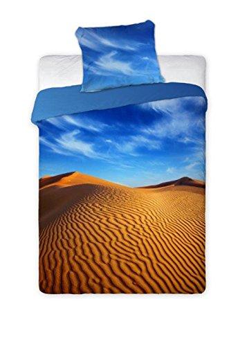 2-teiliges Bettwäsche Set Wüste 140 x 200cm (Bettwäsche-set Desert)