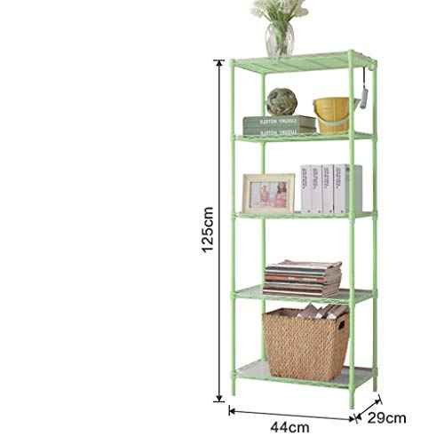Nyfcc cucina scaffale di metallo area magazzino mensola cinque bagno bagno sanitari bagagli ripiano sotto ripiano (color : green)