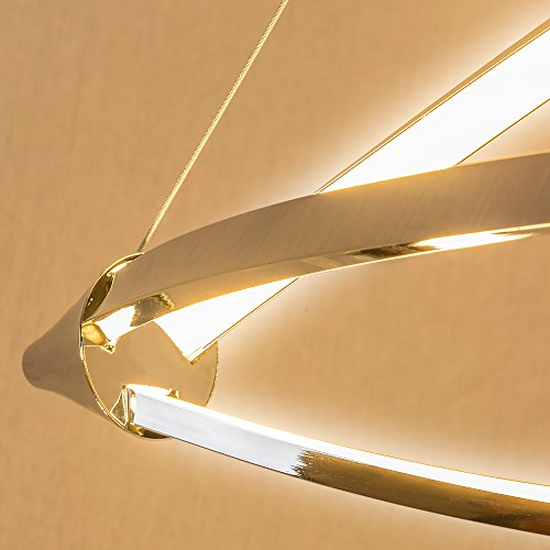 Lu-Mi® LED Pendelleuchte Höhenverstellbar Küchen Deckenleuchte Wohnzimmer Designleuchte Deckenlampe Schlafzimmer Modern (Sunset Lina) - 6