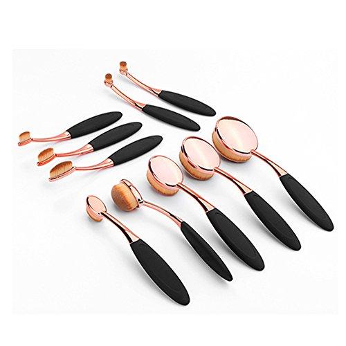 10 Modèles De Brosse À Dents Rose Gold Brush Set Man Made Outils De Beauté De Fibre,Black