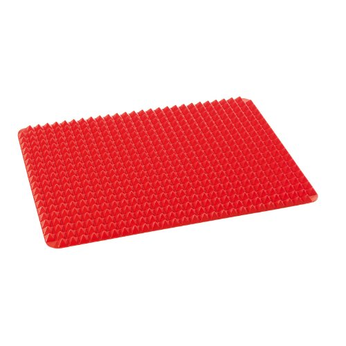 TV Top Ventes 04436 Pyramid Pan Tapis de Cuisson en Silicone, rouge