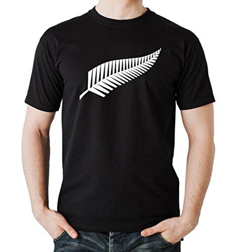 New Zealand T-Shirt Nero Certified (Nuova Zelanda Rugby Shirts)