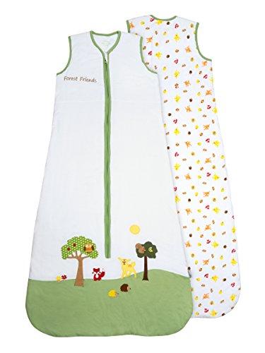 Schlummersack Baby Sommerschlafsack 0.5 Tog 70cm/ 0-6 Monate - Waldtiere