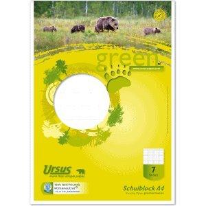 Ursus 10 x Schulblock A4 Lineatur 7 kariert 50 Blatt