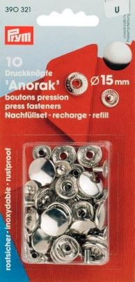 Prym 15mm Refill,-Pack von 10, silber