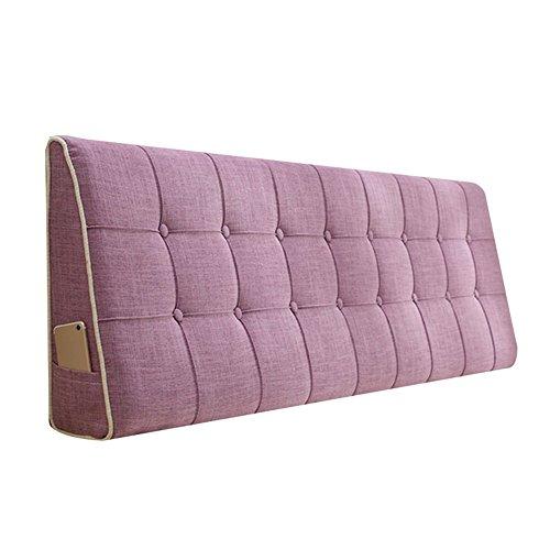 WENZHE Kopfteil Kissen Bett Rückenkissen Rückenlehne Stoff Kissen Softcase Waschbar Einfach zu säubern Atmungsaktiv Nicht deformiert, 7 Farben (Farbe : 4#, größe : 180x50cm)