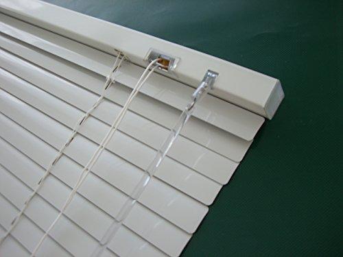 Alu Jalousie Weiß – Breite 40 bis 240 cm – Höhe 130 / 160 / 220 cm – Tür Fenster Rollo Jalousette Aluminium Fensterjalousie Lamellen Metall