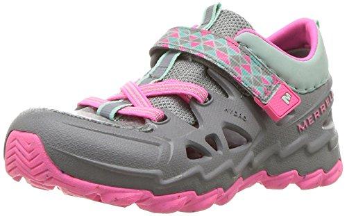 Merrell Girls' Hydro Junior 2.0 Sandal, Grey/Pink, 6 Medium US Toddler