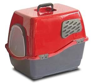 Marchioro Bill 2F couvert à litière pour chat avec filtre, Taille S/M, ardoise/Ruby