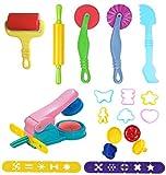 Herramientas de Plastilina, Biglion 12piezas Play-doh Modelos Juego de Herramientas de Pasta Arcilla Masa con Extrusión Modelos Moldes Plastico Kit Niños Juguetes Educativos Regalo Juegos de Lmitación