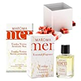 Maroma Men Aromatic All Natural Face and Body Deluxe Gift Set Tonka Vetiver