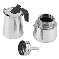 Tradico® 2-Cup Coffee Percolator Stainless Pot Stovetop Jug Maker Moka Espresso Latte