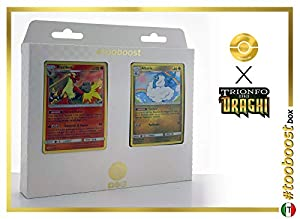 Blaziken 6/70 Y Altaria 40/70 - #tooboost X Sol E & Luna 7.5 Trionfo dei Draghi - Box de 10 Cartas Pokémon Italiano + 1 Goodie Pokémon