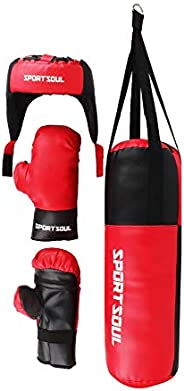 SportSoul Kid's Boxing Set (Punching Bag, Gloves & H
