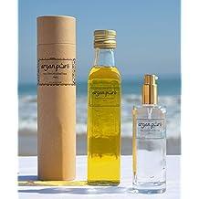 Aceite de ARGAN Cosmetico 100% Puro [_Pack 250 ML+Dosificador_], BIO, 1ª Presion en Frio, para piel y cabello.
