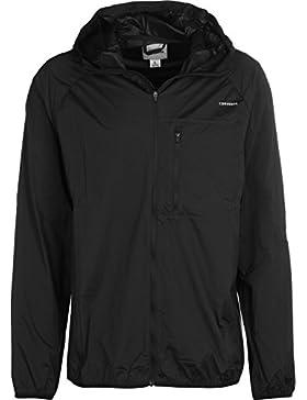 Converse Hombre Falta de definición de nylon Logo Jacket, Negro