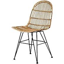 Animal Design Vivi 60003 Chaise En Osier Tressee Moderne Salle A Manger