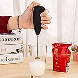 Hongxin Classic Sleek Design Hand Blender for Cafe Latte, Espresso, Cappuccino, Lassi, Salad Dressing (8.5 x 2 Inches)