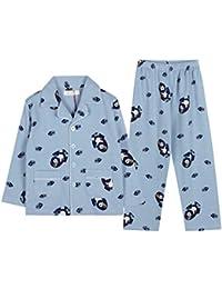 Pijamas dos piezas Pijamas Pijamas para niños Manga Larga Ropa de Dormir Peces Lindos de algodón con Estampado para niños para…