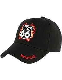 Casquette Route 66 Noire et Rouge - Homme