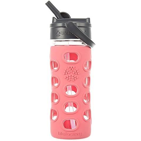 Lifefactory Glas-Trinkflasche - Frasco, color rosa, talla 320 ml
