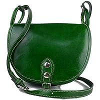 Bolso de mujer de piel bandolera de cuero bolso de espalda de cuero bolso de piel made in Italy verde