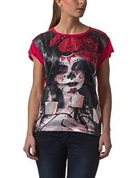 Fresh Made Damen Print T-Shirts DOB Shirt, bright red, S