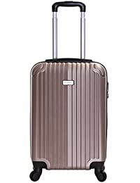 Slimbridge Borba Super Lightweight ABS Hard Shell Travel Cabin Carry On Hand Luggage Suitcase with 4 Wheels, Approved for Ryanair, EasyJet, British Airways, Virgin, Flybe and More
