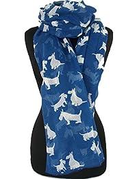 GFM Fastglas foulard imprimé Animal-Scottie-Grand Modèle-Foulard toutes saisons