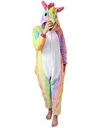 Kenmont Enfants Adulte Unisexe Animal Costume Cosplay Combinaison Licorne Pyjama Nuit Vêtements Soirée de Déguisement