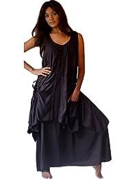 LOTUSTRADERS Damen Kleid mit Taschen