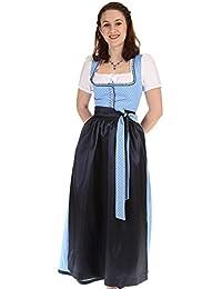 Königssee Tracht Damen Dirndl lang Baumwolldirndl lang blau