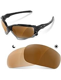dad4a53a0c65d sunglasses restorer Lentes Fotocromaticas Polarizadas Marron 30-45% de Recambio  para Oakley Racing Jacket