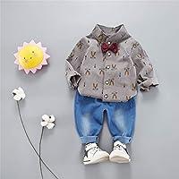 ZWS Los Jeans Camisa Set - 1~3 años Traje de algodón Jeans Camisa Algodon Puro,Gray,110cm