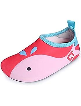 [Sponsorizzato]SITAILE bambini Ragazze Scarpe da Mare Scarpette di Aqua da Surf da Spiaggia per Sportive Acquatici Scarpe da...