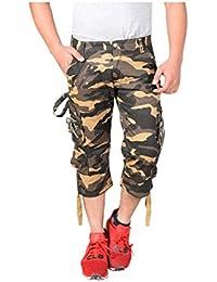 Krystle Boy's 6 Pocket Cotton Army 3/4th Shorts