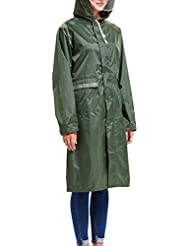 Babysbreath Impermeable Impermeable Mujeres Hombres Pareja Impermeable Trench Coat Rain Capa Rainwear Gear Rain Rain verde L