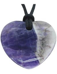 Glücksbringer Sternzeichen Fische Geburtsstein Herz Halskette Edelstein Amethyst