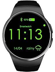 Smartwatch con salud actividad rastreador, contador de calorías, llamada SMS Inicio sistemas de navegación, IPS redondo pantalla táctil reloj inteligente, Smartwatch Pulsera Bluetooth podómetro con previsión meteorológica, IPS HD Pantalla Táctil reloj deportivo, compatible con Android Smartphones incluyendo iPhone, Samsung, HTC, Sony