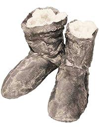 FERETI Botas De Casa Hombre Zapatillas Peluche Botines Pantuflas Suela Goma Altas Anti Slip